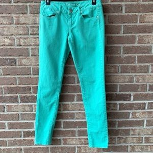 AEO Seafoam Green Skinny Jeans